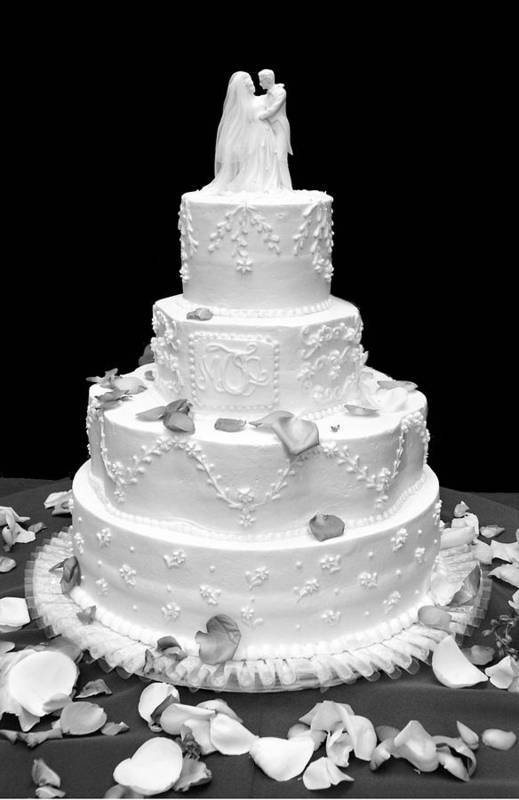 Wedding Art Print featuring the photograph Wedding Cake by Marilyn Hunt