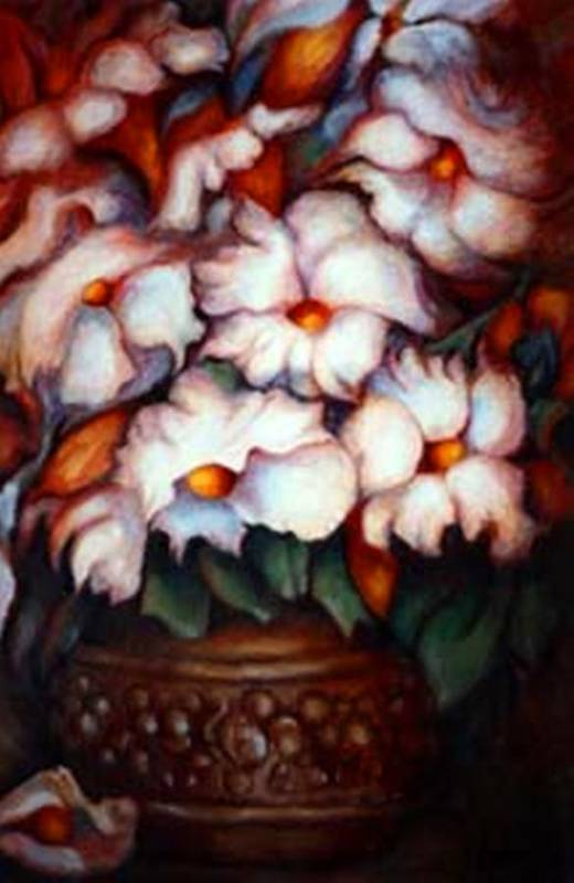 Flower Artwork Art Print featuring the painting Western Flowers by Jordana Sands