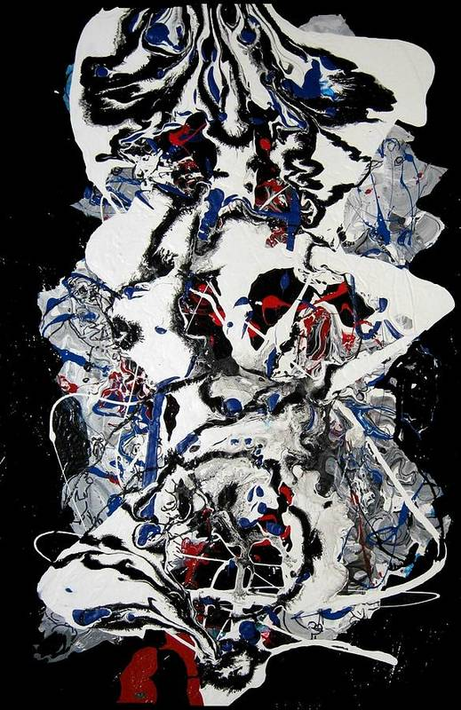 Abstract Art Print featuring the painting Winter Meltdown by Paul Freidin