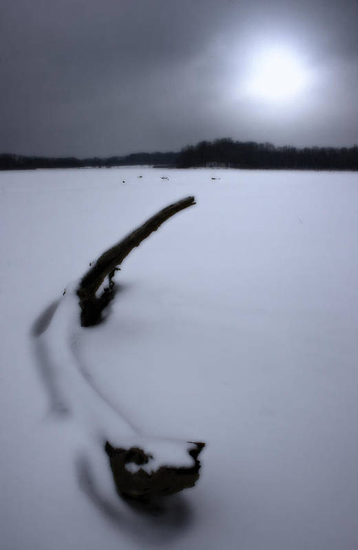 Winter Art Print featuring the photograph Winter Moonrise by Kenneth Krolikowski
