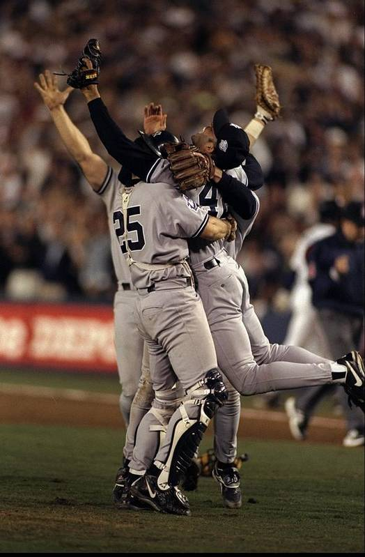 Following Art Print featuring the photograph 1998 World Series 1998 by Al Bello