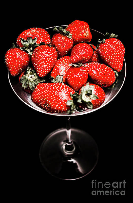 Food Art Print featuring the photograph Berry Tonic by Jorgo Photography - Wall Art Gallery