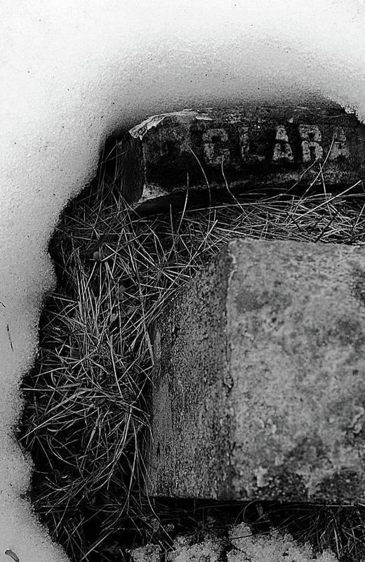 Grave Art Print featuring the photograph Clara by Jeff Heimlich