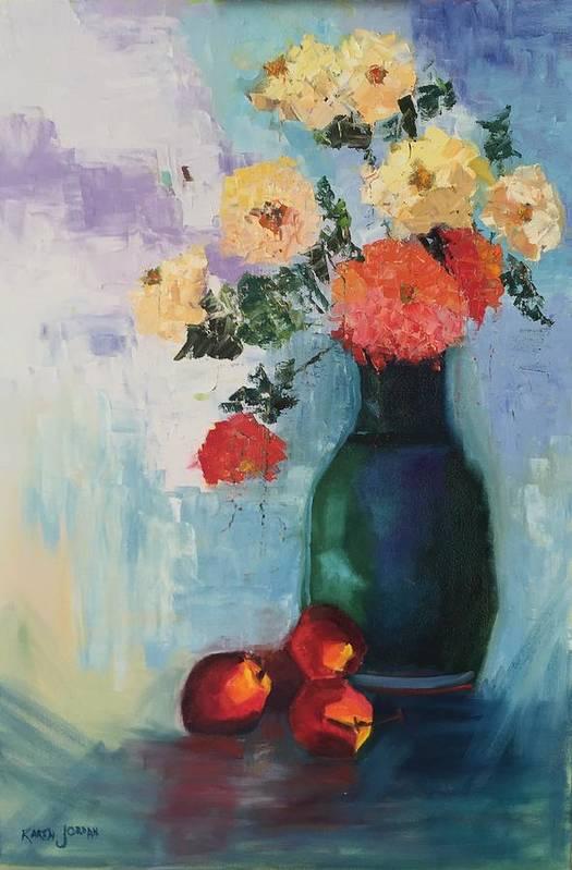 Art Print featuring the painting Kitchen Joy by Karen Jordan