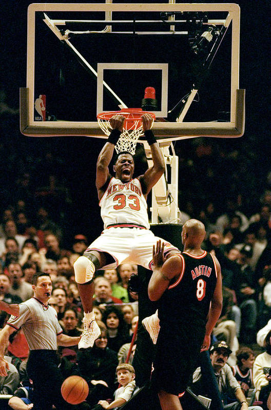 Nba Pro Basketball Art Print featuring the photograph New York Knicks Patrick Ewing Does A by New York Daily News Archive