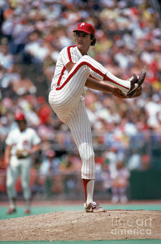Baseball Pitcher Art Print featuring the photograph Steve Carlton by Mlb Photos