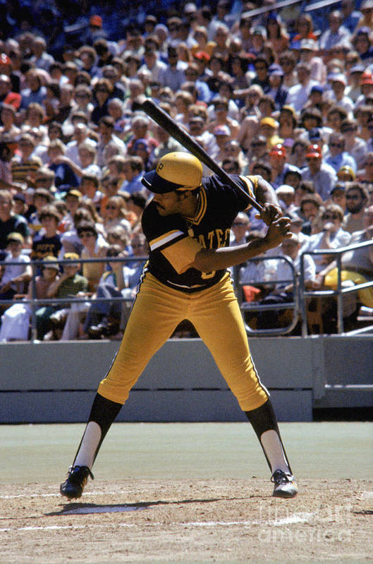 Sports Bat Art Print featuring the photograph Willie Stargell by Mlb Photos