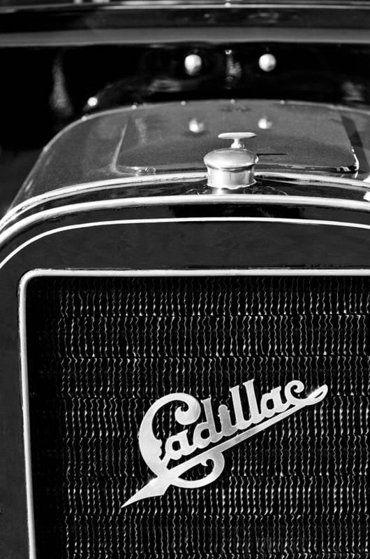 1907 Cadillac Model M Touring Grille Emblem Art Print featuring the photograph 1907 Cadillac Model M Touring Grille Emblem by Jill Reger