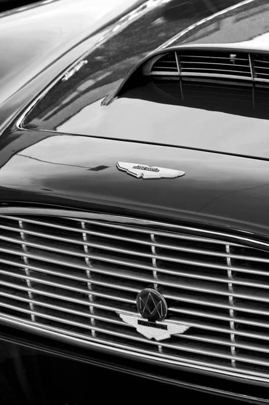 1960 Aston Martin Db4 Grille Emblem Art Print featuring the photograph 1960 Aston Martin Db4 Grille Emblem by Jill Reger