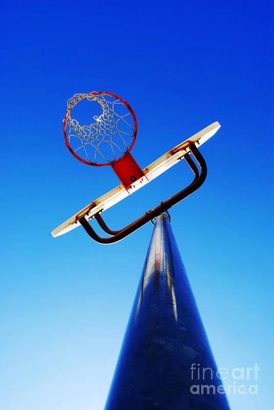 Rule Art Print featuring the photograph Basketball Hoop by Lane Erickson
