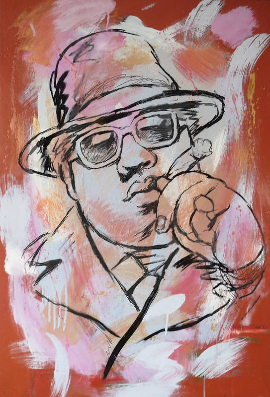 Biggie Smalls Art Drawing Poster Art Print featuring the painting Biggie Smalls Art Painting Poster by Kim Wang