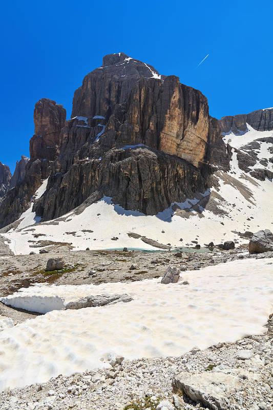 Alto Adige Art Print featuring the photograph Dolomites - Pisciadu Peak by Antonio Scarpi
