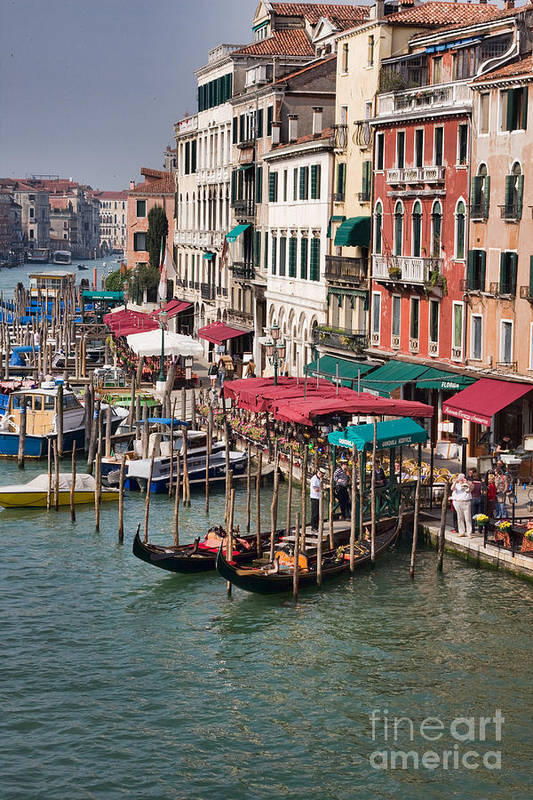 Venice Art Print featuring the photograph Grand Canal In Venice by Gabriela Insuratelu