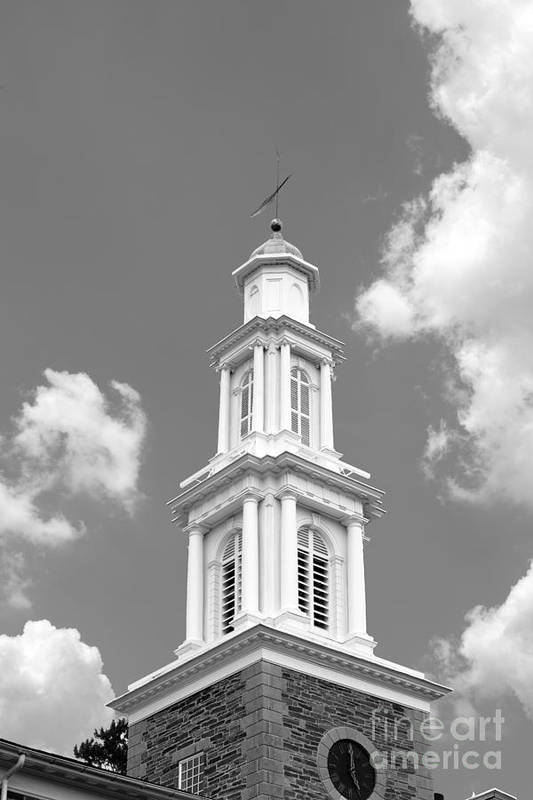 Clinton Print featuring the photograph Hamilton College Chapel by University Icons