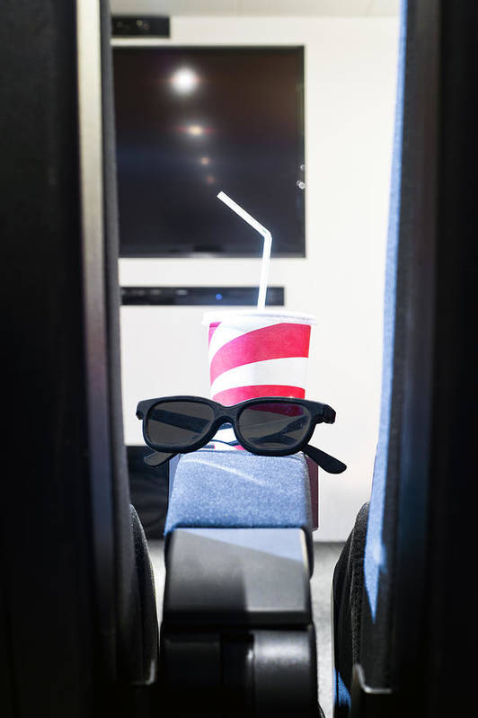 3d Glasses Art Print featuring the photograph Home Cinema by Corepics