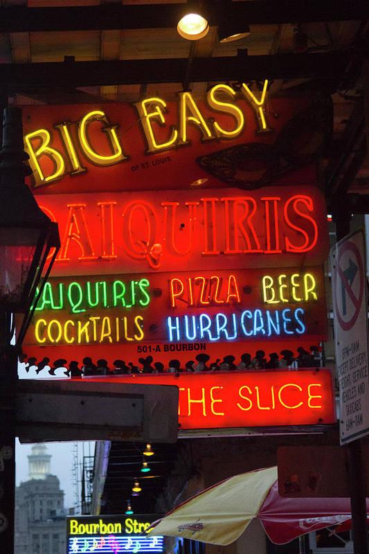 La, New Orleans, French Quarter, Neon Art Print