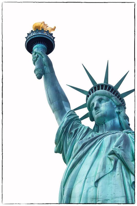 Usa Print featuring the photograph Lady Liberty by Jaroslav Frank