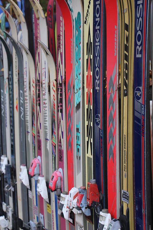 Nh Art Print featuring the photograph Lets Ski by Jeffrey Akerson
