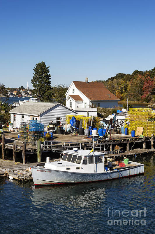 New Castle Print featuring the photograph Lobster Boat by John Greim