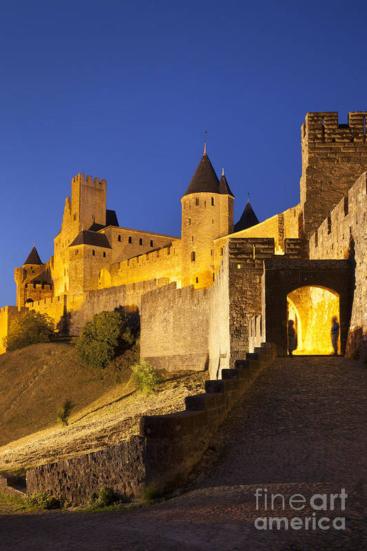 Architecture Art Print featuring the photograph Medieval Carcassonne by Brian Jannsen
