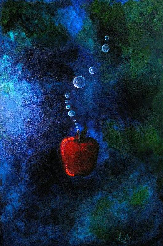 Apple Art Print featuring the painting Pomum by Alicia Hayes