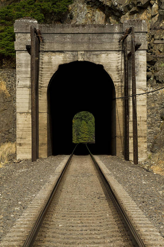 Hill Art Print featuring the photograph Railroad Tunnel 3 Bnsf 1 B by John Brueske