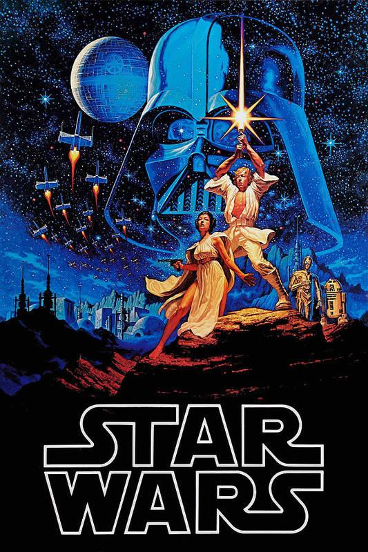 Star Print featuring the drawing Star Wars by Farhad Tamim