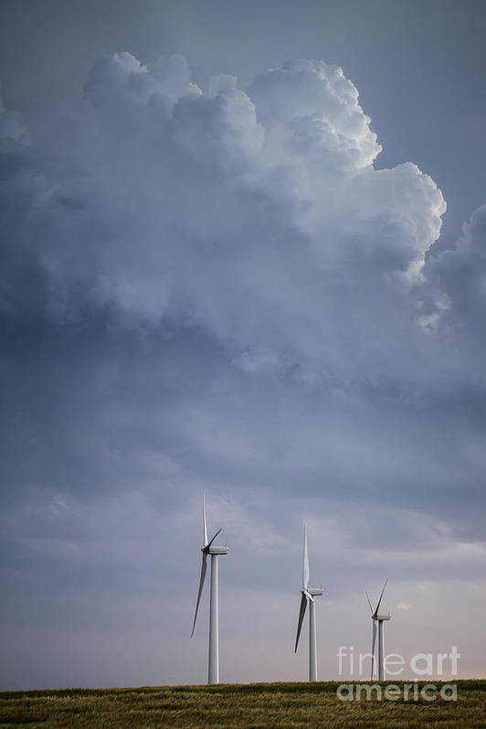 Stormy Skies Art Print featuring the photograph Stormy Skies by Jim McCain