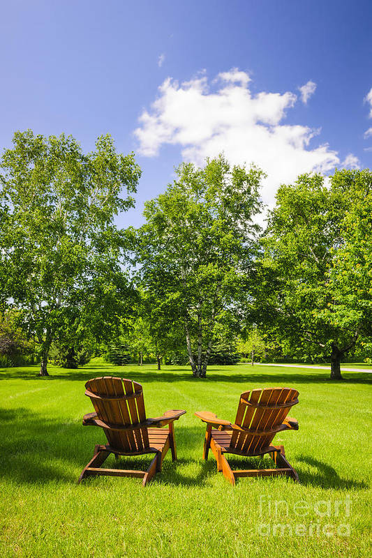 Chairs Art Print featuring the photograph Summer Relaxing by Elena Elisseeva