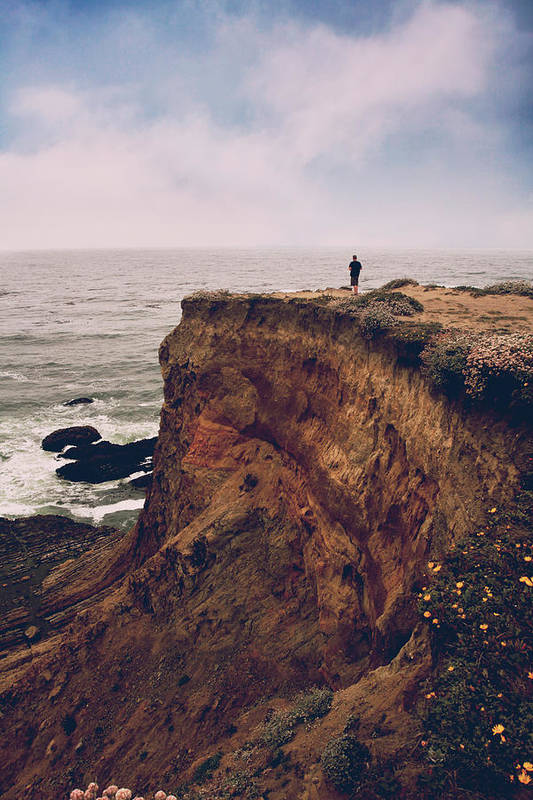 Point Arena Art Print featuring the photograph To The Ends Of The Earth by Laurie Search