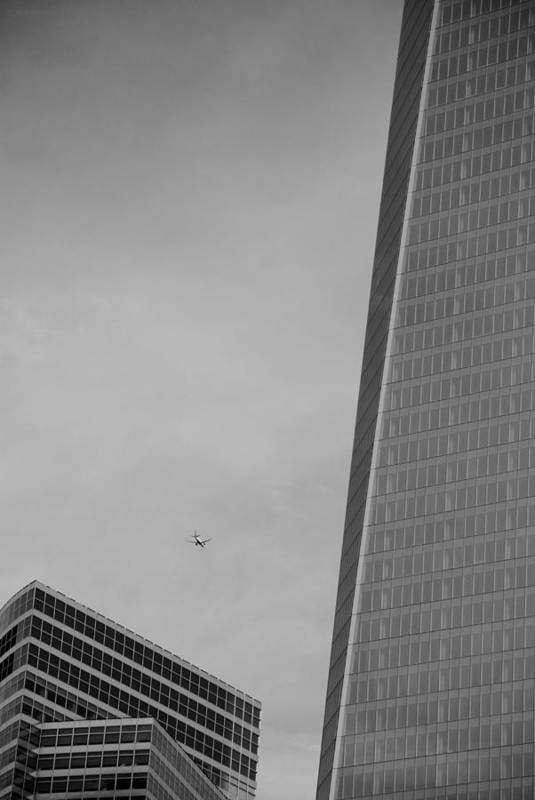 Wtc Art Print featuring the photograph 1 W T C In Black And White by Rob Hans