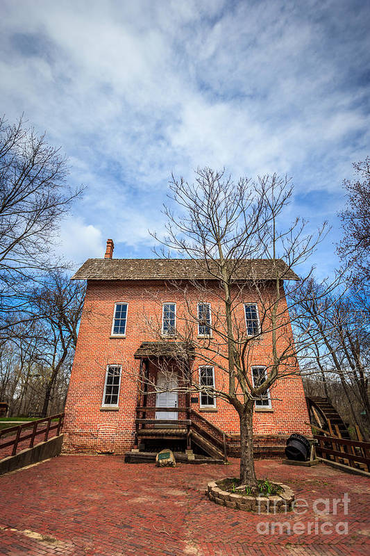 1800's Art Print featuring the photograph Wood's Grist Mill In Deep River County Park by Paul Velgos