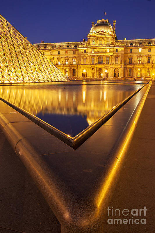 Architectural Art Print featuring the photograph Musee Du Louvre by Brian Jannsen