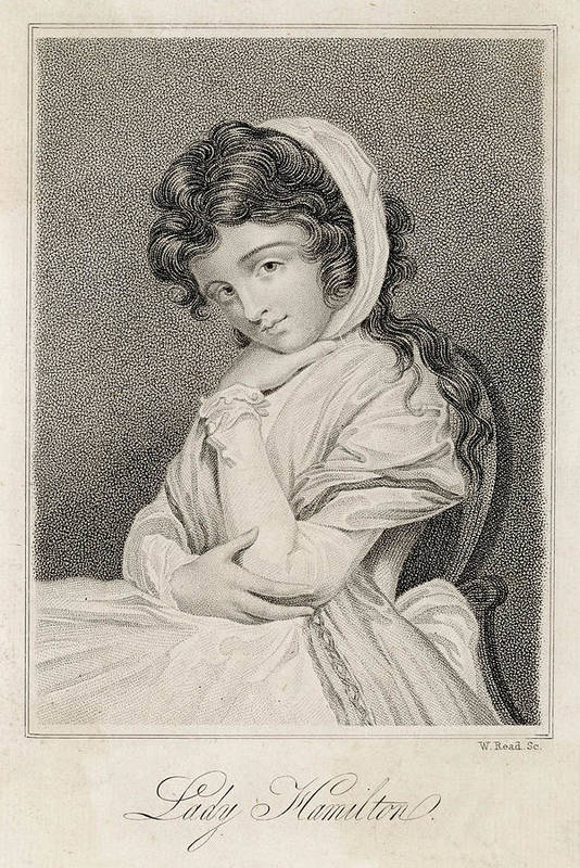 Emma Art Print featuring the drawing Emma, Lady Hamilton Wife Of Lord by Mary Evans Picture Library