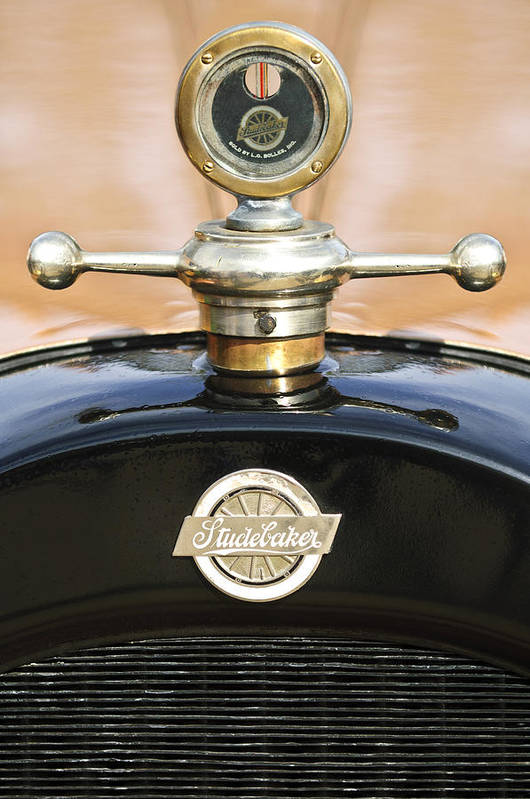 1922 Studebaker Touring Art Print featuring the photograph 1922 Studebaker Touring Hood Ornament by Jill Reger