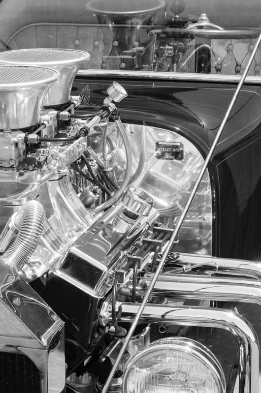 1923 Ford T-bucket Engine Art Print featuring the photograph 1923 Ford T-bucket Engine 2 by Jill Reger