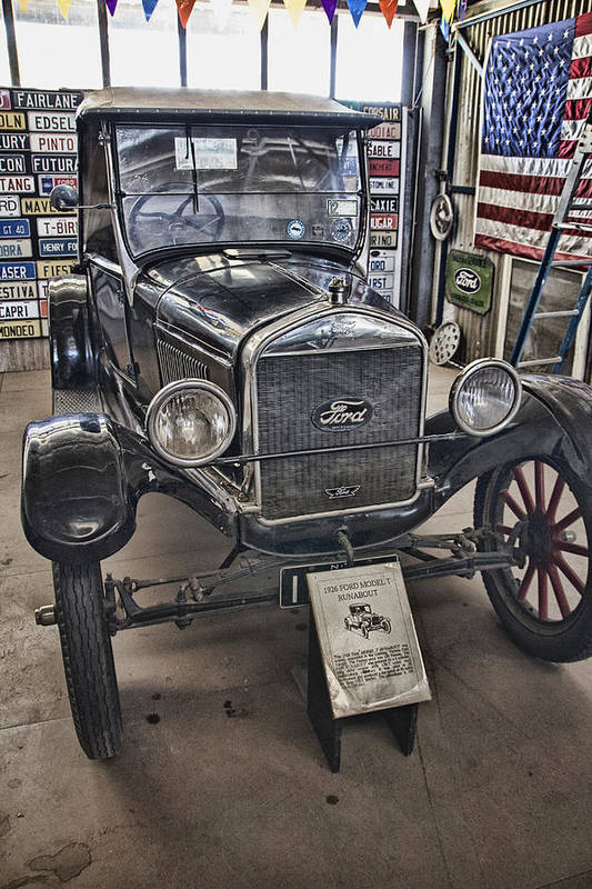 1926 Ford Model T Runabout Print featuring the photograph 1926 Ford Model T Runabout by Douglas Barnard