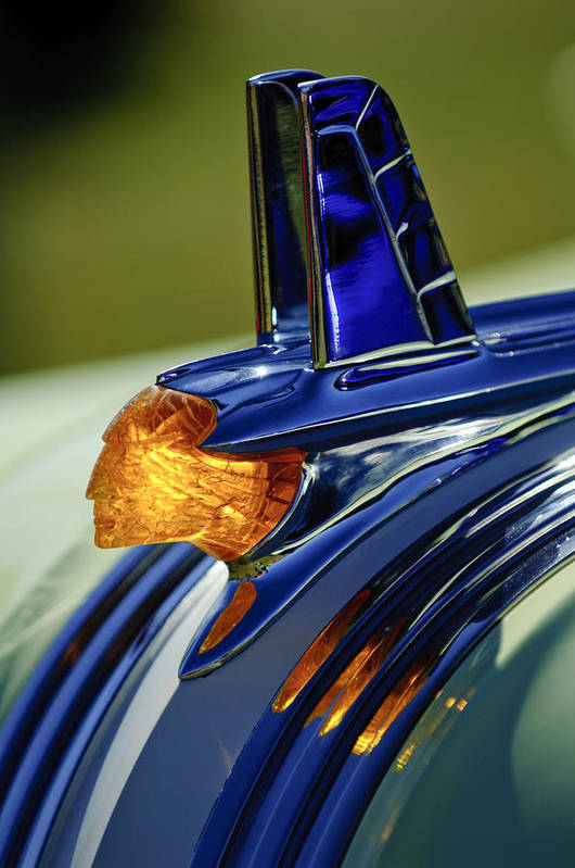 1953 Pontiac Art Print featuring the photograph 1953 Pontiac Hood Ornament 3 by Jill Reger