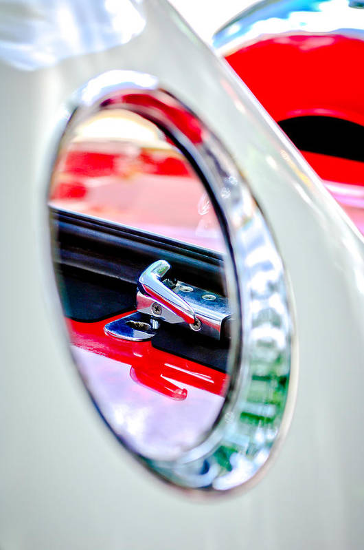 1956 Ford Thunderbird Latch Art Print featuring the photograph 1956 Ford Thunderbird Latch -417c by Jill Reger
