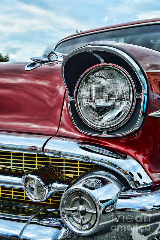 Paul Ward Art Print featuring the photograph 1957 Chevy - My Classic Car by Paul Ward