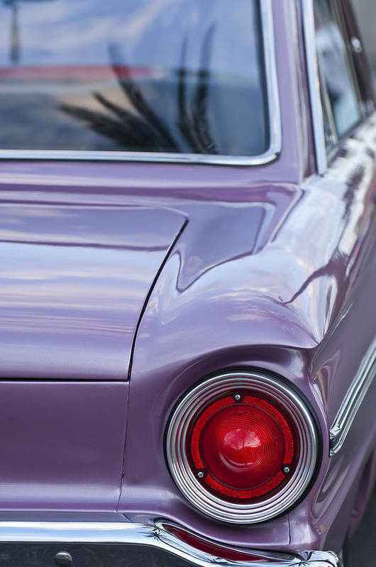 1963 Ford Falcon Art Print featuring the photograph 1963 Ford Falcon Tail Light by Jill Reger