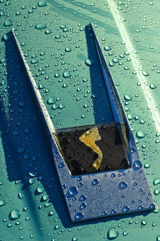1963 Studebaker Avanti Art Print featuring the photograph 1963 Studebaker Avanti Hood Ornament by Jill Reger