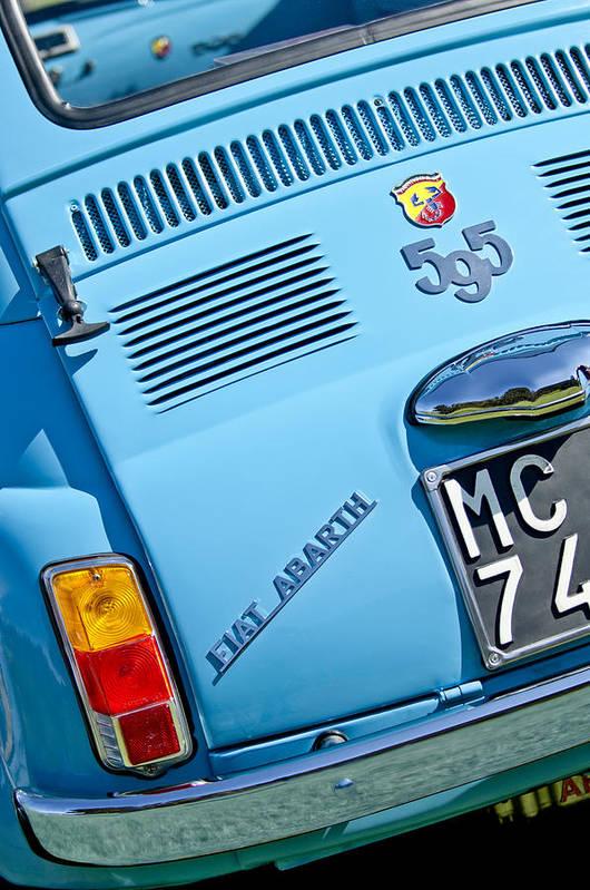 1965 Fiat Art Print featuring the photograph 1965 Fiat Taillight by Jill Reger
