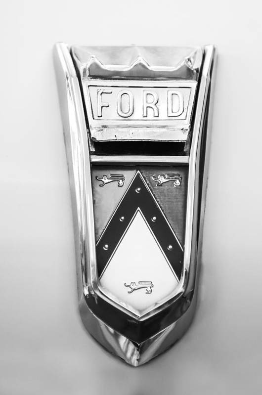 1963 Ford Falcon Futura Convertible Emblem Art Print featuring the photograph 1963 Ford Falcon Futura Convertible Emblem by Jill Reger