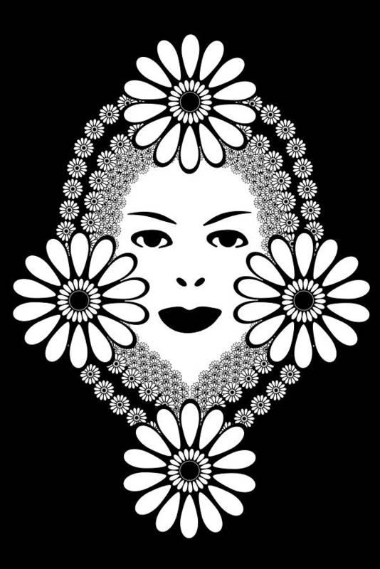 Art Nouveau Art Print featuring the drawing Art Nouveau Woman by Frank Tschakert