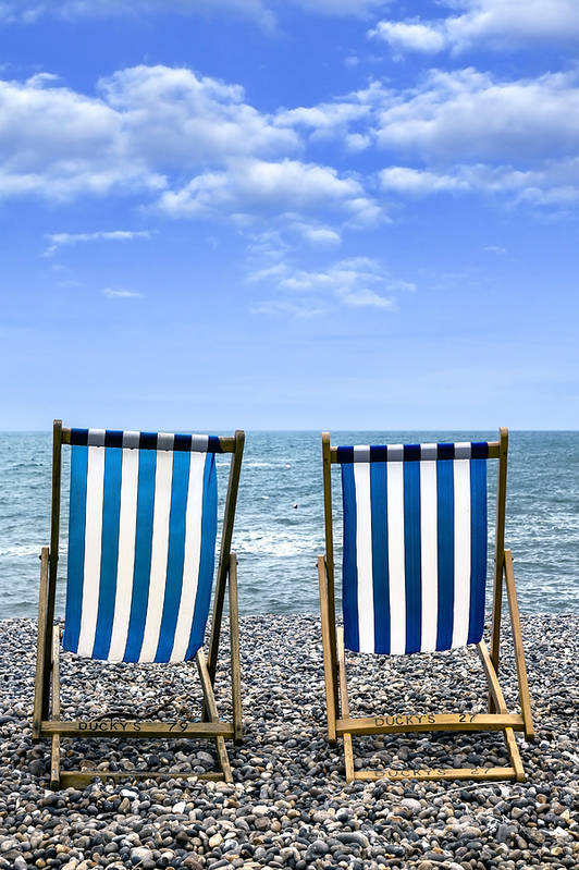 Beach Art Print featuring the photograph Beach Chairs by Joana Kruse