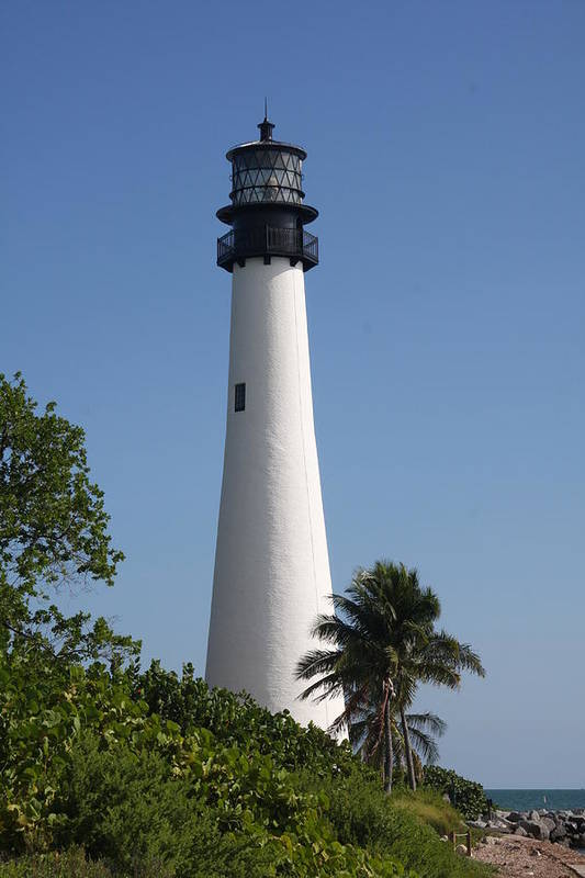 Ligthouse Art Print featuring the photograph Ligthouse - Key Biscayne by Christiane Schulze Art And Photography