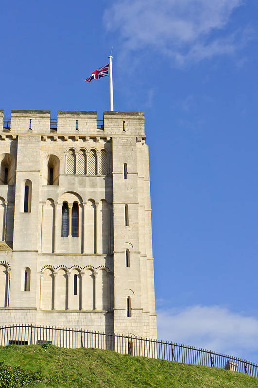 Ancient Art Print featuring the photograph Norwich Castle by Tom Gowanlock