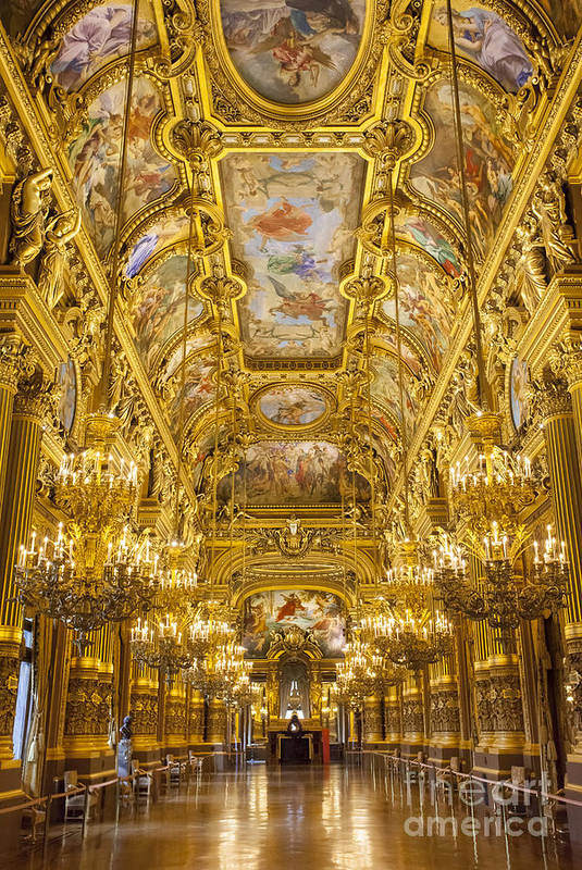 Architectural Art Print featuring the photograph Palais Garnier Interior by Brian Jannsen