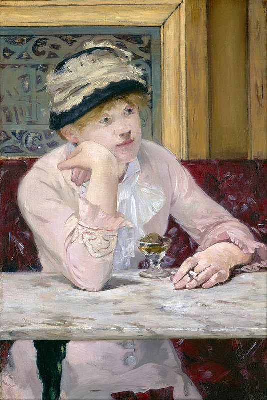 Edouard Manet Art Print featuring the painting Plum Brandy by Edouard Manet